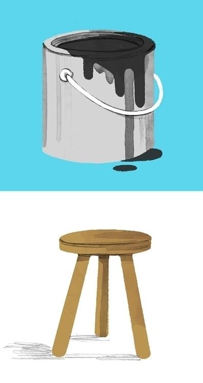house, paint, bucket, stool - cmouta | ello