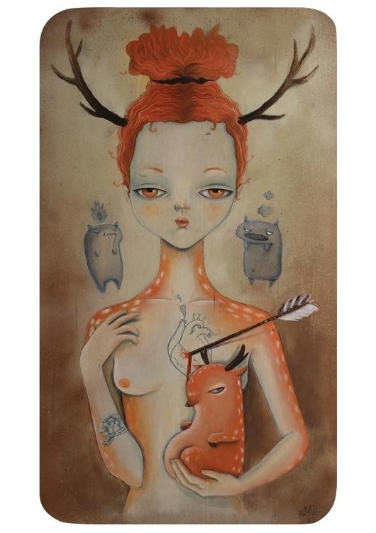 HURT - illustration, painting, animals - mysticmissyfu | ello