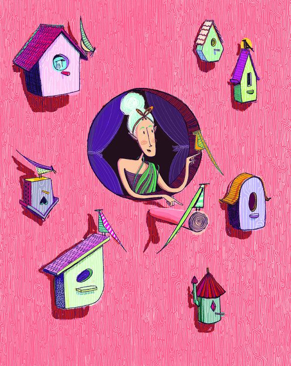 Cinderella Window - illustration - maggiemcaton | ello