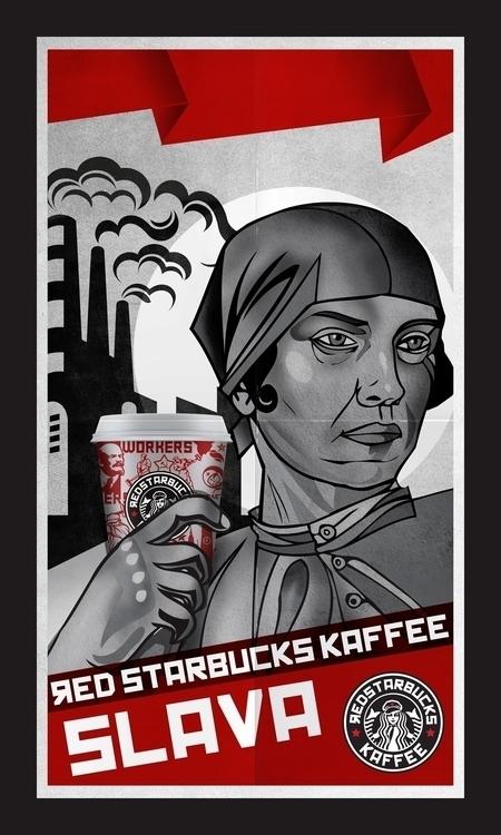 redstarbucks kaffee soviet styl - cardula | ello