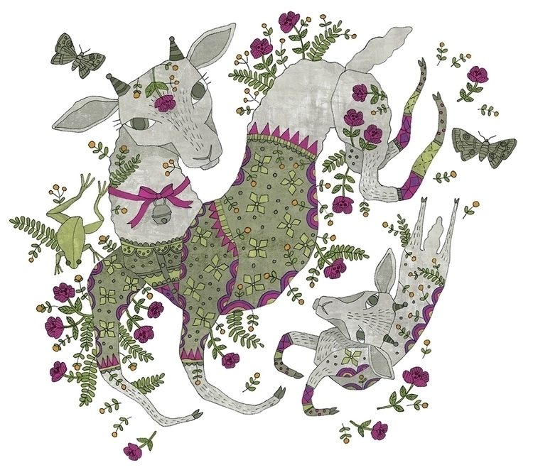 Year Sheep - sheep, illustration - denisegallagher | ello