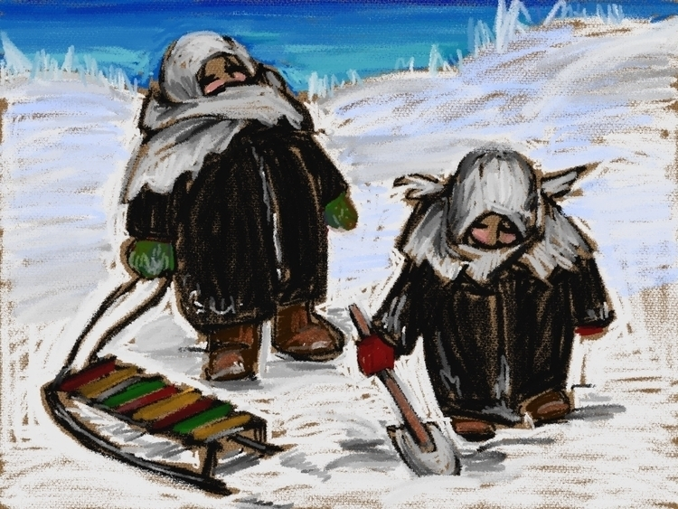 winter - drawing - usumasinta | ello