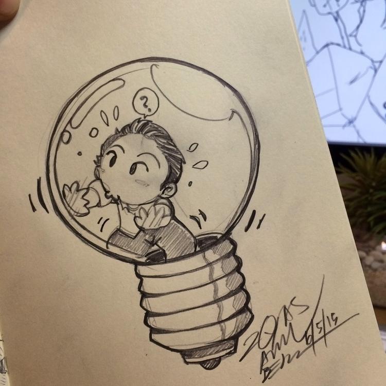 idea - illustration, pencil, moleskine - royasamri | ello