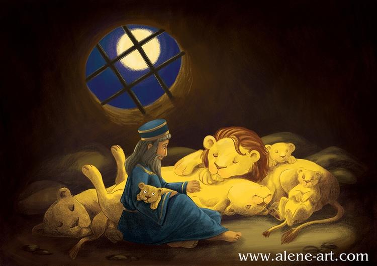 Daniel Lions' Den - illustration - aleneart | ello