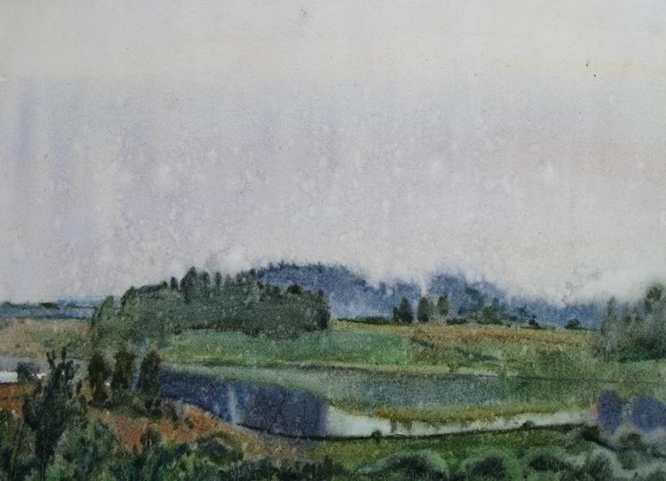 watercolor, watercolour, lake - naktisart   ello