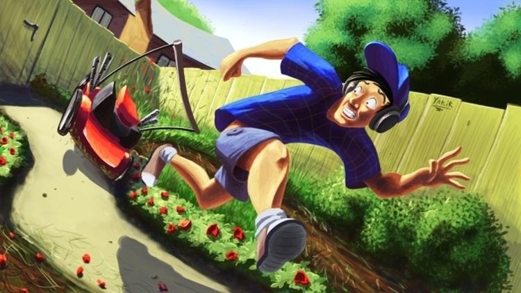 Mind Damn lawnmower - conceptart - bagam | ello