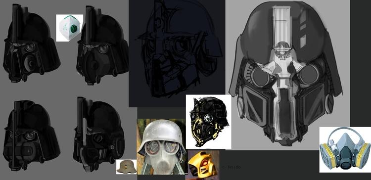creating solders helm - gornak | ello