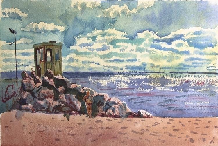 watercolor, watercolour, summer - naktisart | ello