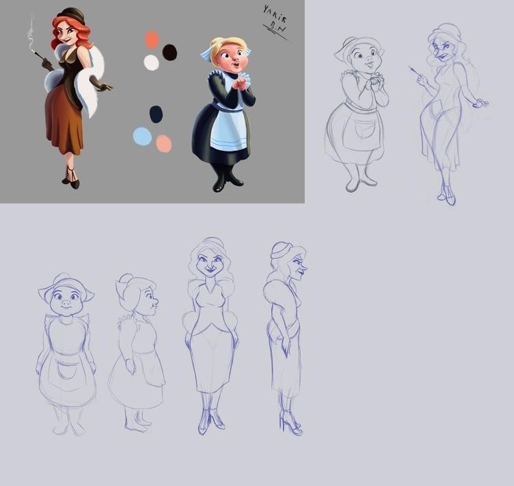 Maid Mistress - characterdesign - bagam | ello