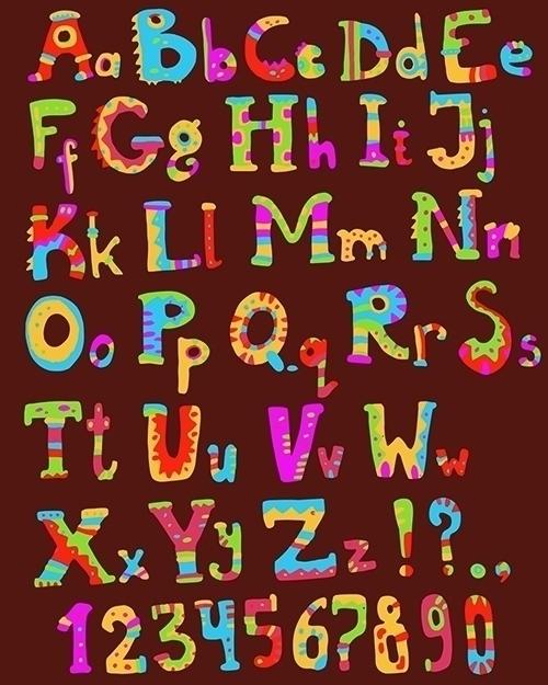 Funny font ethnic flavor - abc, alphabet - dinkoobraz | ello