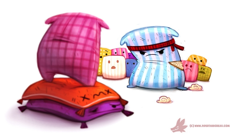 Daily Paint Pillow Fight Club - 1084. - piperthibodeau | ello