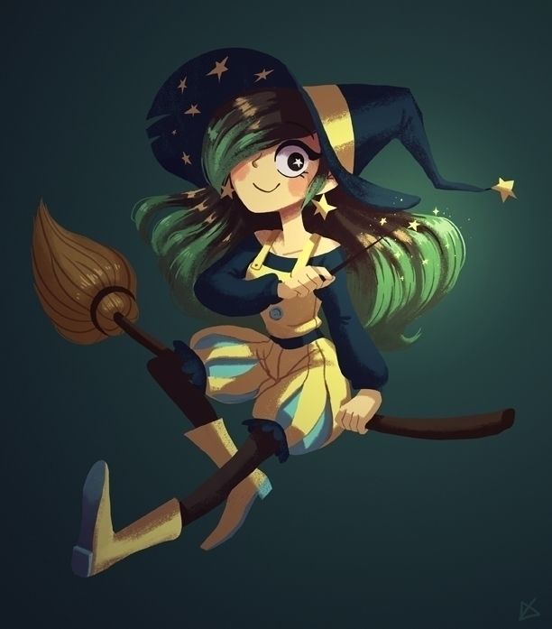 Witchsona - digitalpainting, witchsona - lucyxue | ello