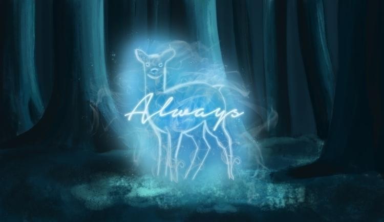 Memory Alan Rickman - illustration - roxanneeee | ello