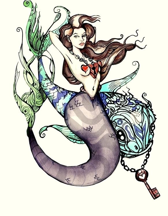 Mermaid TAT - mermaid, tattoo - jeremieduval | ello