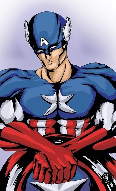 Captain America - marvelcomics, captainamerica - yaksiart | ello