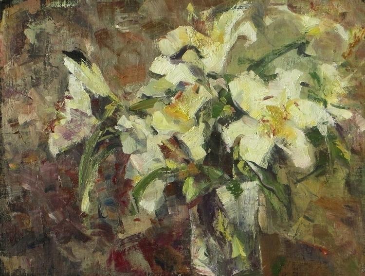 Autumn life lilies - painting - vladimirmishyra | ello