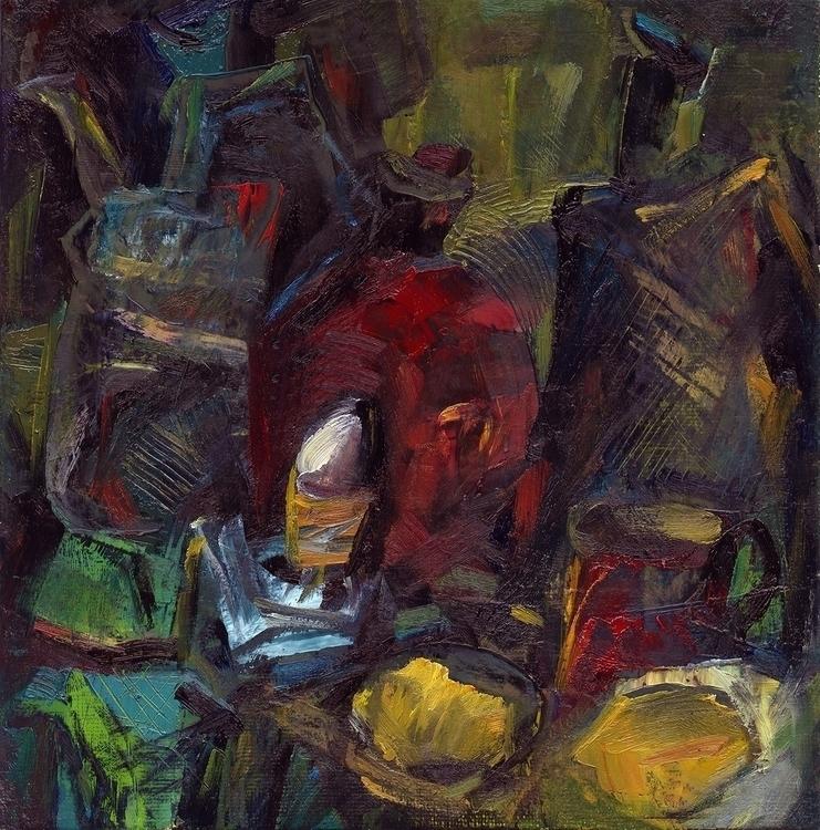 pitchers, eggs - painting - vladimirmishyra | ello