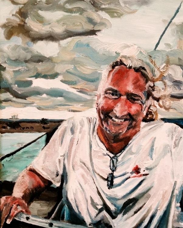 Captain Steve - painting, sailor - alouise-1006 | ello