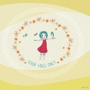good vibes - illustration, animation - patchpo   ello