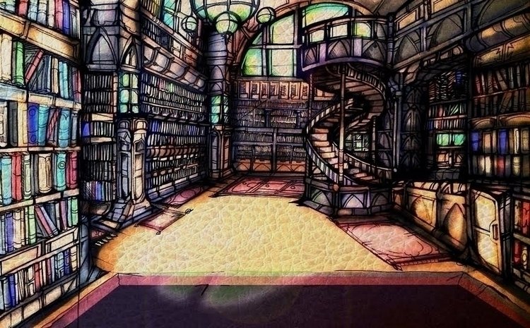 Library - library, books - jeremieduval | ello
