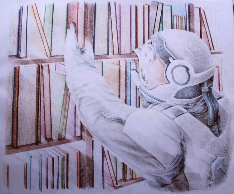 Interstellar - colour pencils - drawing - emilygrobler | ello