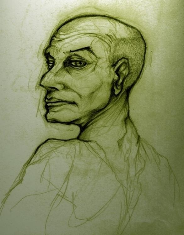 bald man - portrait, figure, figuredrawing - jeremieduval | ello