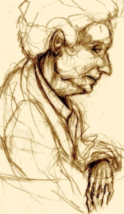 grandma - figuredrawing, grandmother - jeremieduval | ello