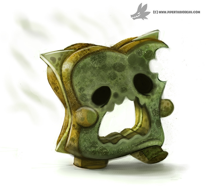 Daily Painting Mold Zombie - 947. - piperthibodeau | ello