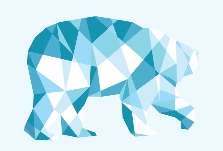 Geometric polar bear - geometric - leahwatson | ello