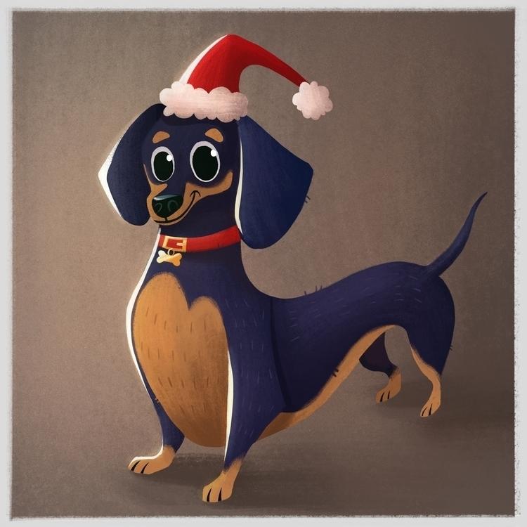 Dachshund - dachshund, dog, characterdesign - ashleyodell | ello