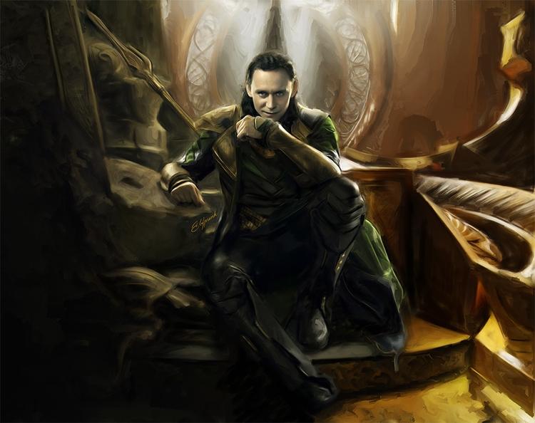 King Loki - loki, king, marvel, comics - elfpunk999 | ello