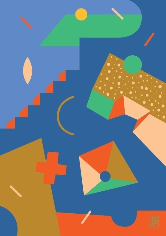 abstract, abstraction, blue, poster - sonyakorshenboym | ello