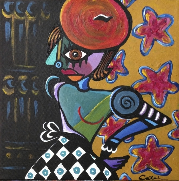 Catt Hatt - abstract, painting, acrylic - catsnodgrass | ello
