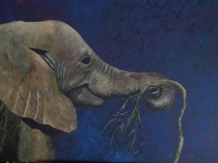 Elephant - painting, elephant, africa - michele-1314 | ello