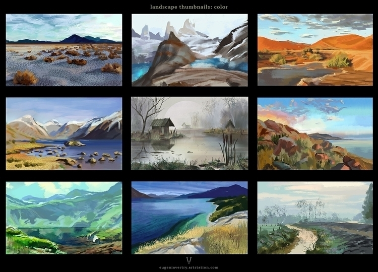 Landscape thumbnals color - illustration - eugeniavertryvorontsova | ello