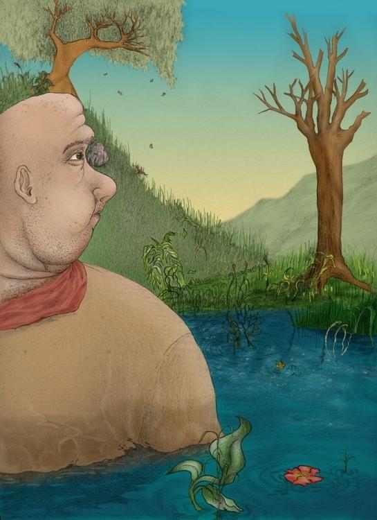 Swamp - illustration - juliocgrio | ello