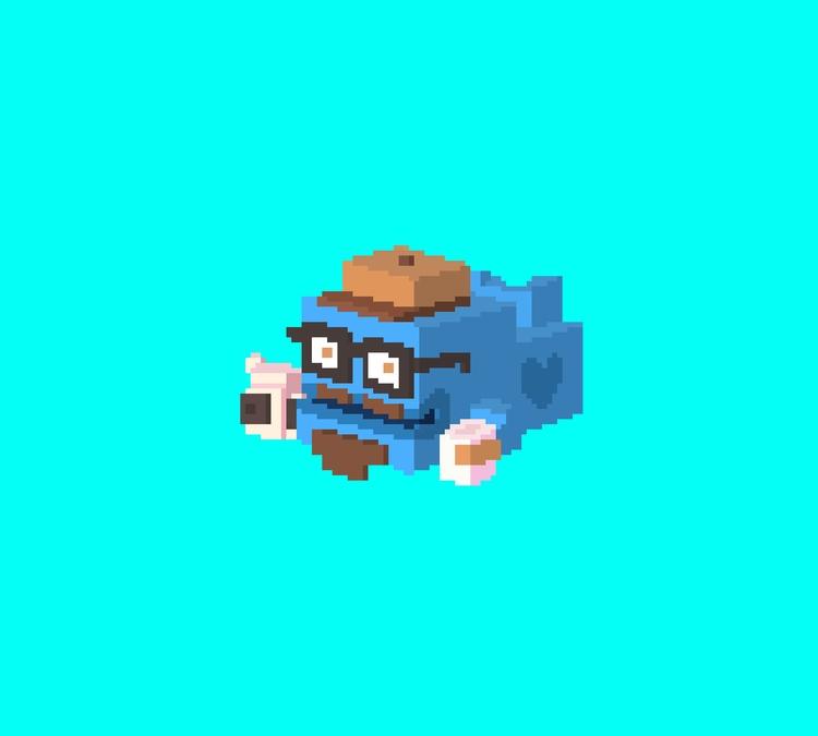 Hipster Whale pixels - pixelart - planckpixels | ello