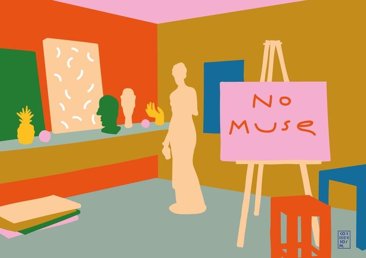 muse - studio, interior, illustration - sonyakorshenboym | ello