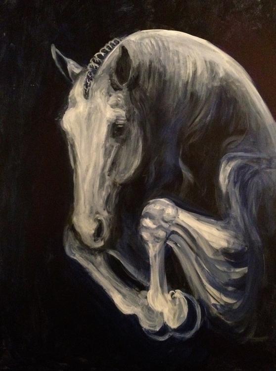 painting, horse - lyndaelyzoo   ello