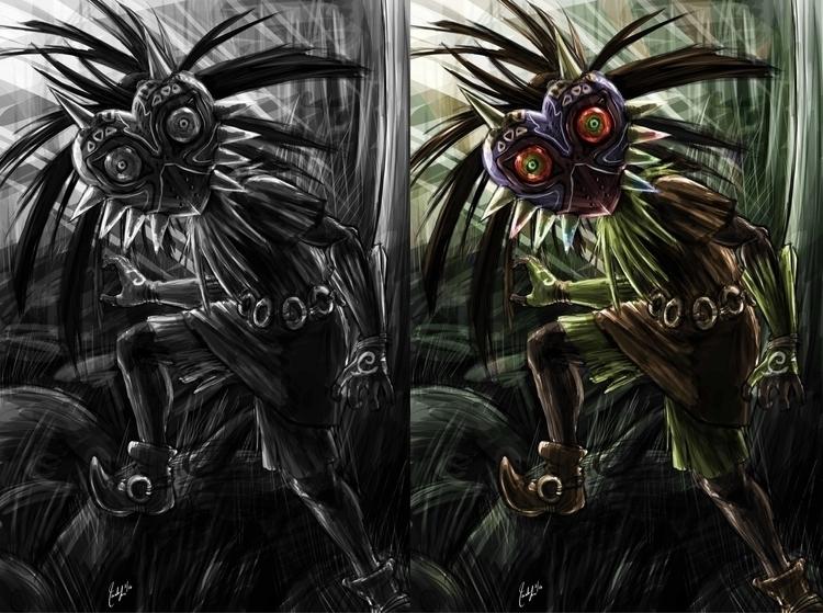 commission Skull Kid Legend Zel - candaceaprillee   ello