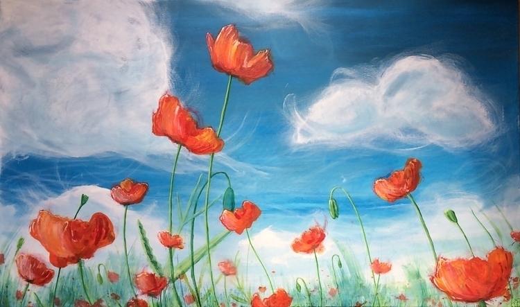 Poppies painting - rutgervandeelen | ello