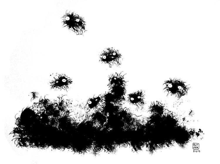 Nest - tunnelers, nest, illustration - rutgervandeelen | ello