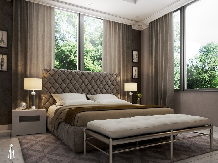 Guest room design - 3dsmax, rendering - arqmarenco   ello