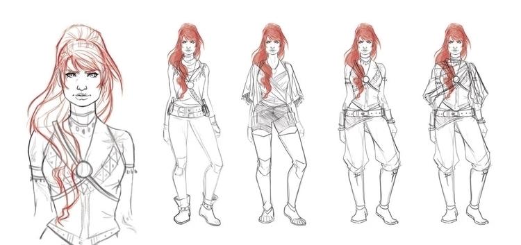 Character design OC Shay; face  - jaisamp | ello