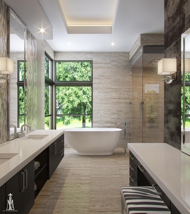 Master bath design - 3dsmax, rendering - arqmarenco | ello