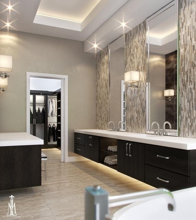 Master bath design - 3drendering - arqmarenco | ello