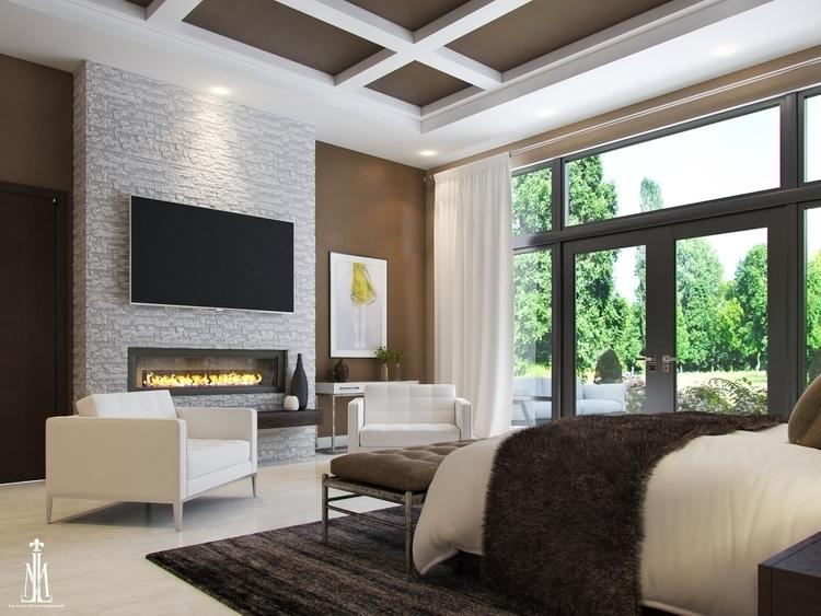 Master room design - 3dsmax, rendering - arqmarenco | ello