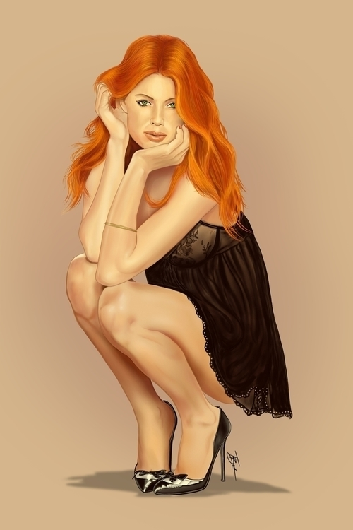 Love Redheads - illustration, painting - tbrock-1170 | ello