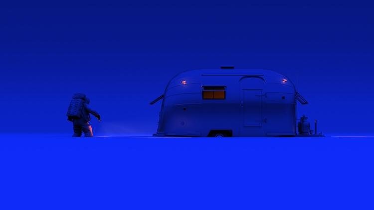 Blue limbo - barcelona, 3dart, fantasyart - curro-1143 | ello