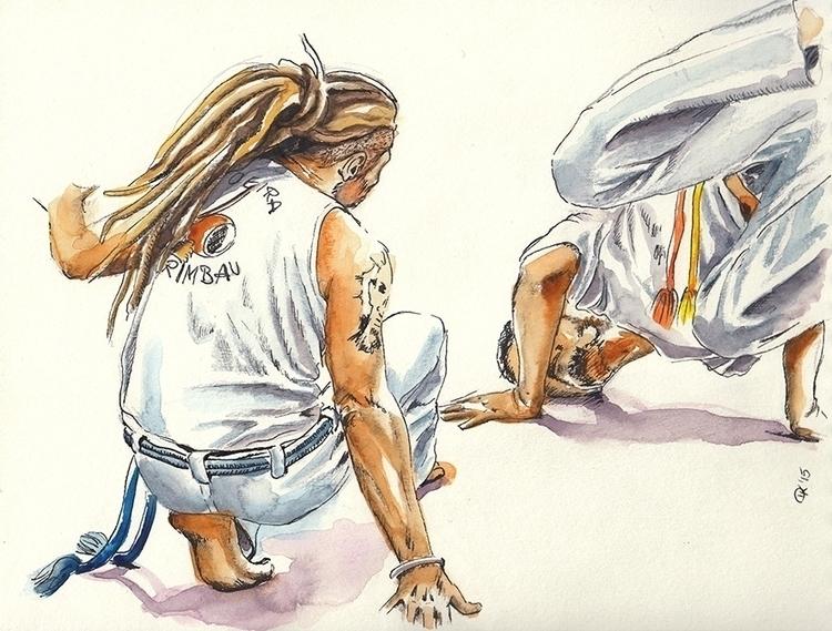 playing capoeira na roda - painting - dannyknebel | ello